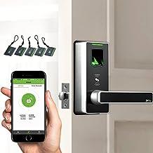 Fingerprint Door Lock with Bluetooth Biometric Smart Lock Keyless Home Entry + 5pcs of RFID Cards (Zinc Alloy)