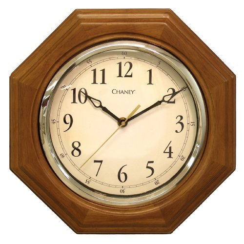 Chaney 46101A1 12 inch Octagon Wood Clock by Chaney Instruments - Octagon Clock