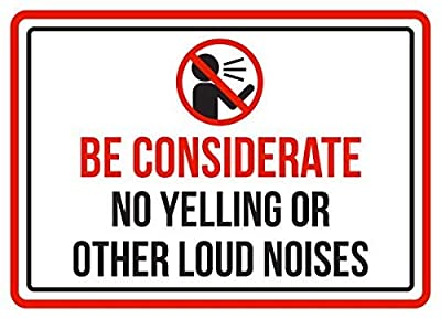 Funny Metal Signs Be Considerate No Yelling Or Other Loud Noises Pool Spa Warning Garage Home Yard Fence Aluminum Plaque Wall Art