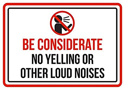 Image result for no yelling