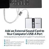 StarTech.com 7.1 USB Sound Card - External Sound
