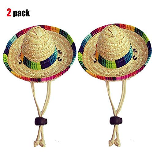 Dogs Sombrero Hat Dogs Sun Hat Party Hats for Dogs Mexican Style Hat for Dogs and Cats Funny Dog Costume]()