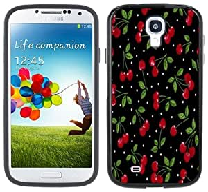 Cherry Cherries Polka Dots Handmade Samsung Galaxy S4 Black Bumper Hard Plastic Case by lolosakes