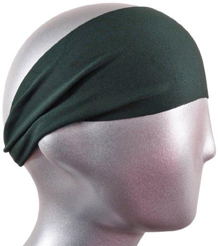 """Bondi Band Solid Moisture Wicking 4"""" Headband, Hunter, One Size"""