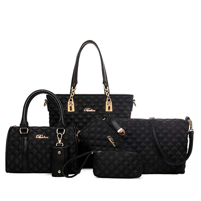 Amazon.com: GMYANDJB Shoulder Bags Womens Bags Nylon Tote Wallet Shoulder Bag 6 Pieces Purse Set Purple Fuchsia Blue Bag Sets: Sports & Outdoors