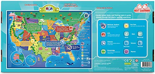 BEST LEARNING i-Poster My USA Interactive Map - Educational Talking Toy for Boys and Girls Ages 5 to 12 Years Old - Ideal Gift for Kids by BEST LEARNING (Image #7)