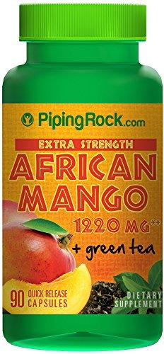 Extra Strength African Mango 1220 mg & Green Tea 90 Capsules