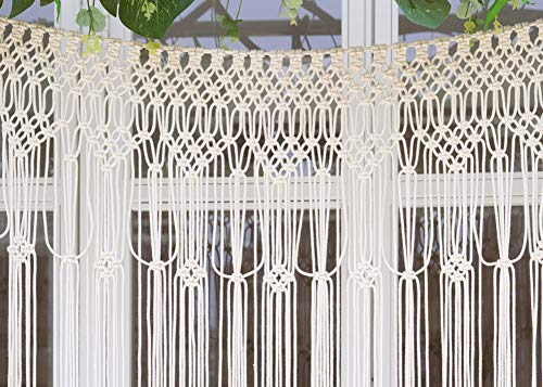 "Pantaknot Large Macrame Boho Decor Wall Hanging Wedding Backdrop Arch Window Covering Headboard Curtain, 56""W x 50""L"