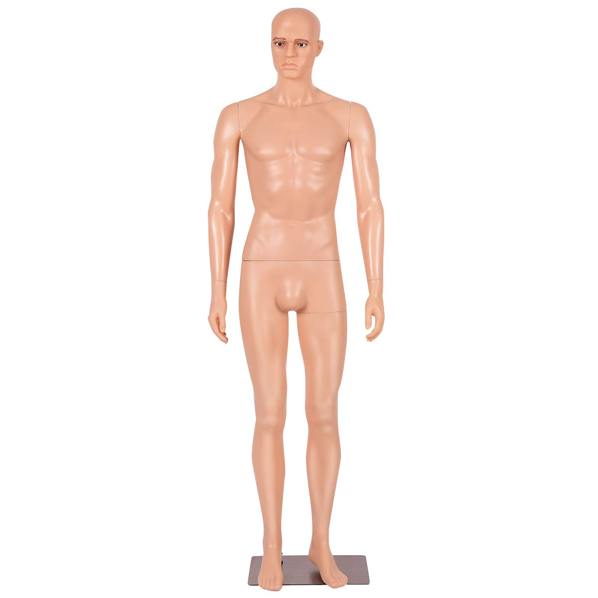 Giantex 6 FT Adjustable Male Mannequin Make-up Manikin Metal Stand Plastic Full Body Realistic by Giantex