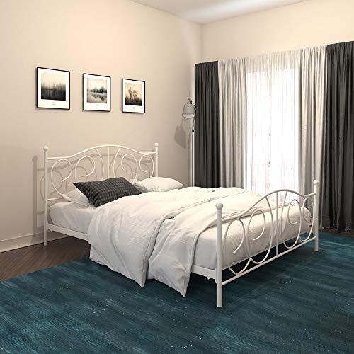 DHP Victoria Metal, Full Size Frame, Storage, White Beds, (Dhp Victoria Full Size Metal Daybed White)