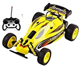 Toy RC Buggy Car Remote Control RC Buggy 1:16 Scale Ready to Run w/ Suspension Toy (Yellow Color)