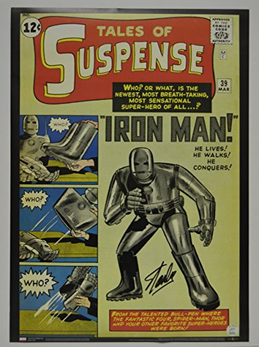 Stan Lee signed Tales of Suspense #39 Comic Cover Vintage MARVEL 20x28 Poster autographed Stan Lee Hologram IRON MAN