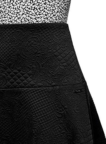 Ultra Jupe Maille oodji Femme Tissu en Noir Textur 2900n 1wqfxCT