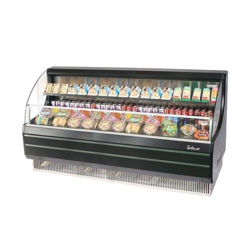 TOM75LBSPA 75 Low Profile Display Merchandiser with Environmental Friendly Refrigeration System Solid Side Panel Standard Back-Guard and Anti-Rust Coating: Black Ext. and Int.