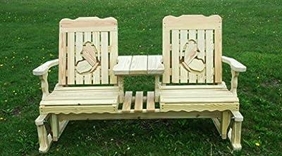 5 Foot Pressure Treated Pine Designs Outdoor Butterflies Cutout Settee Glider