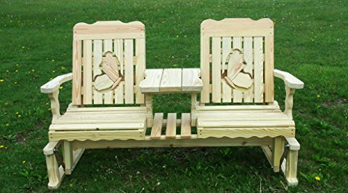 5 Foot Pressure Treated Pine Designs Outdoor Butterflies Cutout Settee Glider Butterfly Settee