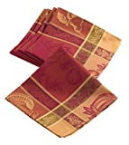 Jacquard Warm Thanksgiving Table linens tablecloth, Napkins (19''x19'' (4 Napkins))