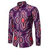 interesting home design ideas 2017 Men Blouses, Beautyfine Slim Cool Tribe Printed Long Sleeve Button Tuxedo Shirts