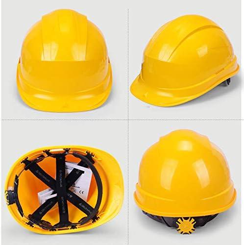 ヘッド保護 建設ヘルメットキャップスタイルのハード帽子調整可能なラチェット8 Ptサスペンションハード非換気帽子調節可能なヘルメットPPエンジニアリングヘルメ 作業安全装置 (色 : 赤)
