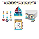 Ahoy Matey Nautical Baby Shower Kit Game and Decorations Kit