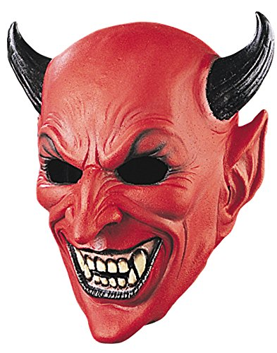 Rubie's Very Scary Adult Horned Devil Deluxe Latex Costume Mask (Standard)