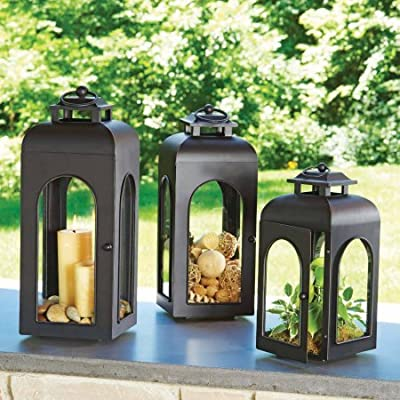 Better Homes and Gardens Domed Metal Outdoor Lantern- LARGE