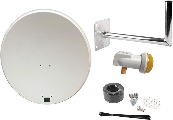 Antena parabólica SAB de 80 cm con montaje en pared, cable ...