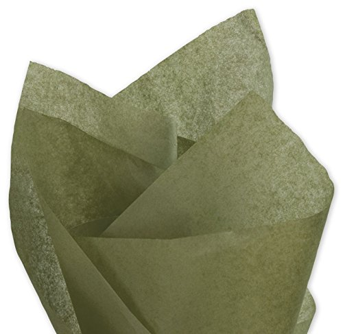 - Solid Tissue Paper - Solid Tissue Paper, Olive Green, 20 x 30