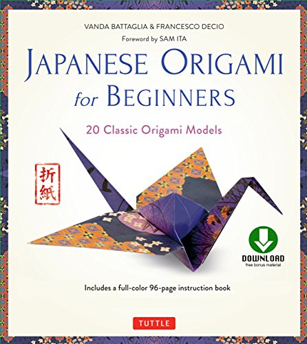 Japanese Origami for Beginners Kit Ebook: 20 Classic Origami Models: Origami Book with Downloadable Bonus Content: Great for Kids and Adults!