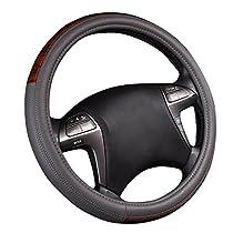 NEW ARRIVAL- CAR PASS Universal Leather Steering Wheel Cover fit for trucks, suvs,vans,sedans