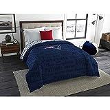 1pc NFL Patriots Comforter Twin/ Full, Team Logo Fan Merchandise Athletic Team Spirit Fan, Unisex, Polyester, Blue Red Football Themed Bedding Sports Patterned