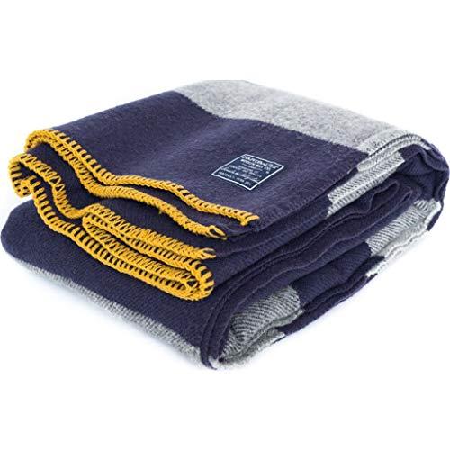 - Faribault Purple Tailgating Wool Throw | Purple/Grey -Silver Edging