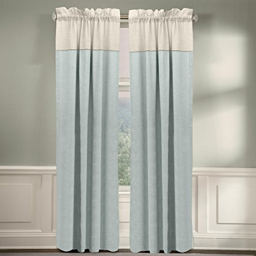 Veratex The Monterey Window Collection Made in the U.S.A. 100% Linen Living Room Grommet Window Panel Curtain, Gray, 108