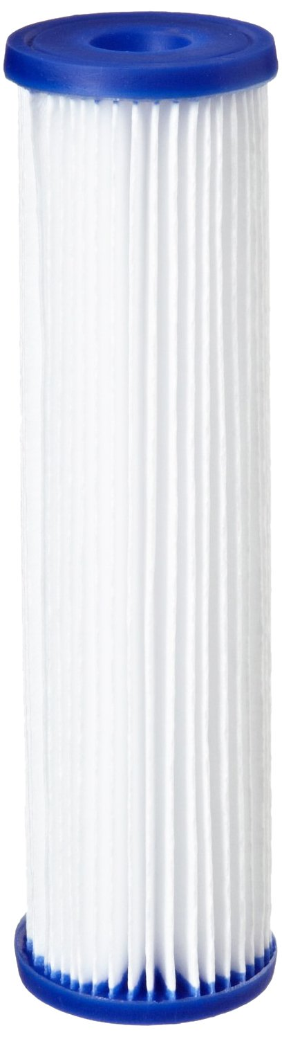 "Pentek R30-20BB Pleated Polyester Filter Cartridge, 20"" x 4-1/2"", 30 Microns"