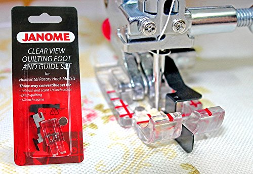 CLEAR VIEW QUILTING FOOT WITH GUIDE FOOT SET FOR JANOME#200449001 ()