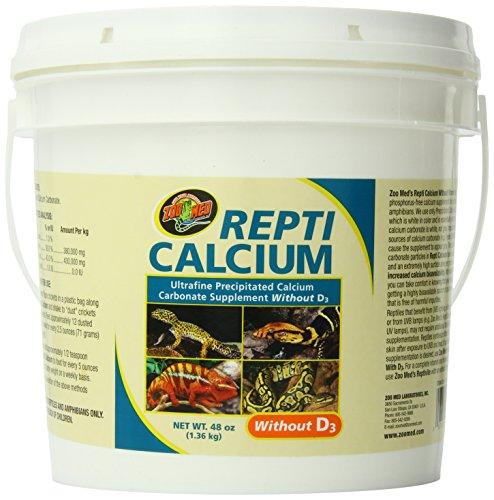 Zoo Med Reptile Calcium Without Vitamin D3, 48 oz (Zoo Calcium Repti Med)