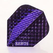 10 x Sets Raw75 Dimplex Metallic Purple Dart Flights Standard Shape