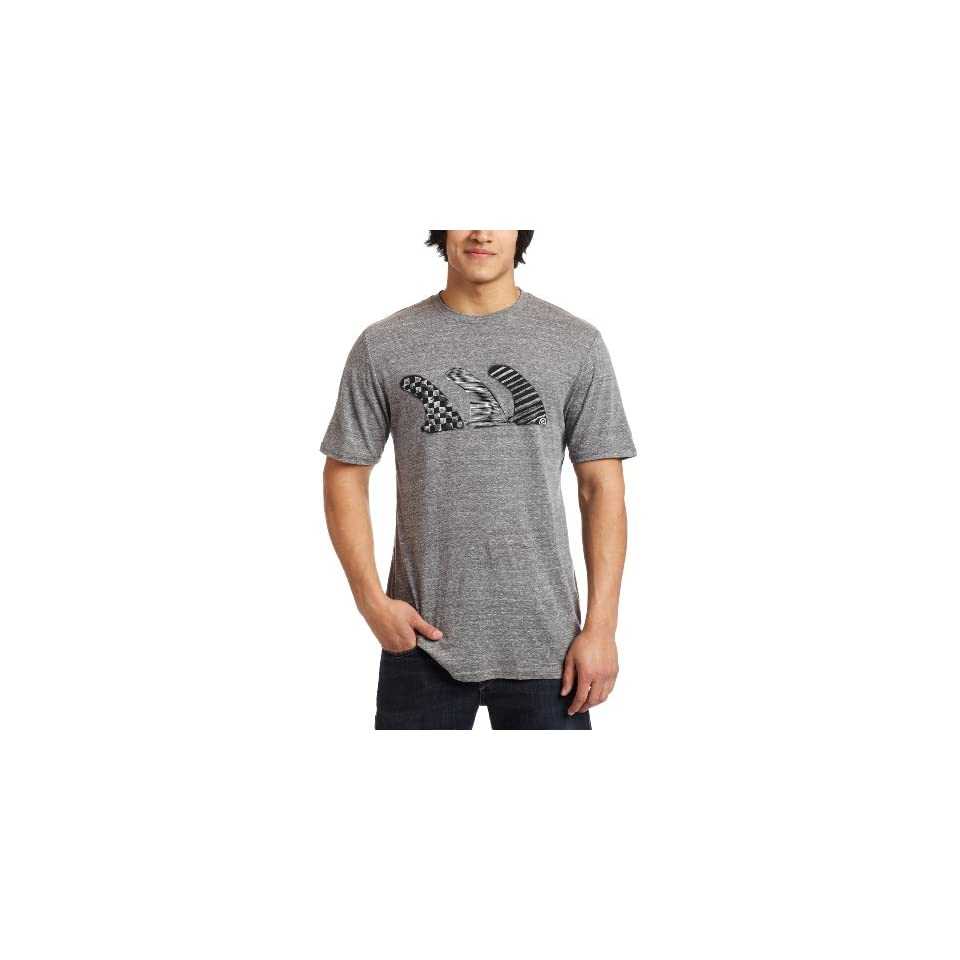 Quiksilver Mens Fintastic Premium Heather T Shirt,Smallmoke Heather,Medium