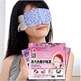 LUQUAN 3Pcs/Lot Steam Hot Warming Eye Mask For Tired Eyes Relaxing Remove Dark Circles Black Eye Spa Mask Blindfold Eyeshade
