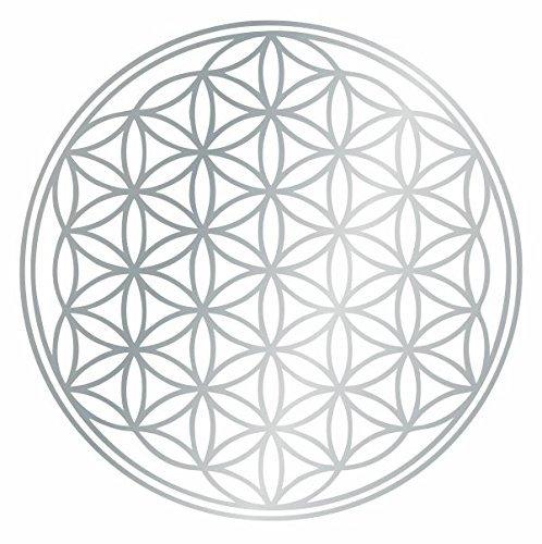 Kiwi Star Flower of Life Wall Sticker Available in 6Sizes–Wall Stickers Wall Decal Sticker 20x 20cm 90_ silbergrau ()