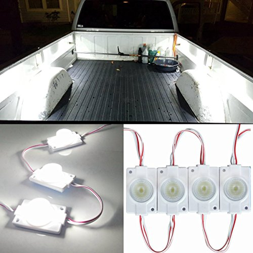 10pcs 12V 2W 3030 Chips Van Interior Lights Module Super Bright Weather-resistant Led for LWB Van Boats Caravans Trailers Celling Light - 16' Abs Bath