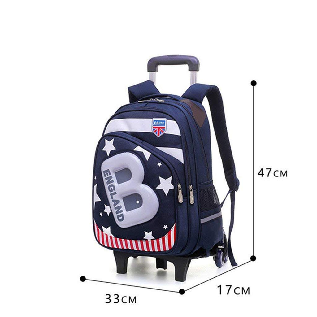 C-Xka Waterproof Wheeled Backpack Cute Cartoon Rolling Backpack Star  Printed Elementary Students Wheeled Book Bag Primary School Bag Carry-on  Luggage Bag ... 9e64ef939a350