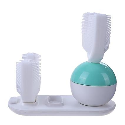 Everpert - Cepillo de dientes eléctrico automático tipo U, carga inalámbrica inteligente
