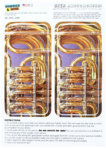 Graphics and More Brass Musical Instrument - Music - Snap On Hard Protective Case