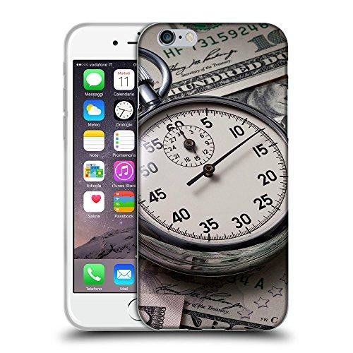 """Just Phone Cases Coque de Protection TPU Silicone Case pour // V00004072 le temps est de l'argent // Apple iPhone 6 6S 6G PLUS 5.5"""""""