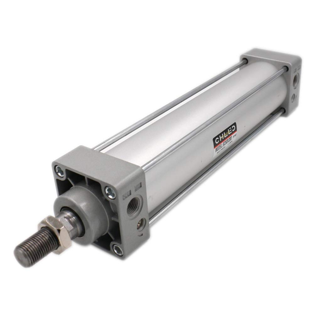 Woljay Pneumatic Air Cylinder SC 50 x 250 PT 1/8 Screwed Piston Rod Dual Action Bore: 50mm Stroke: 250mm
