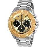 Invicta Men's 'Speedway' Quartz Gold and Stainless Steel Casual Watch, Color:Silver-Toned (Model: 22398)