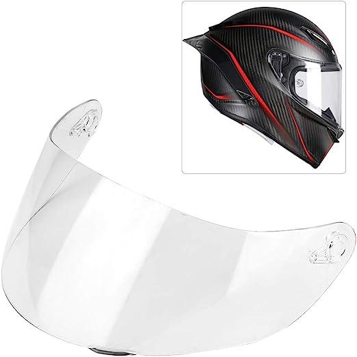 Suuonee Visiera con lente per casco placcato argento visiera per casco per motocicletta Visiera con visiera per casco Visiera con visiera integrale per AGV K1 K3SV K5