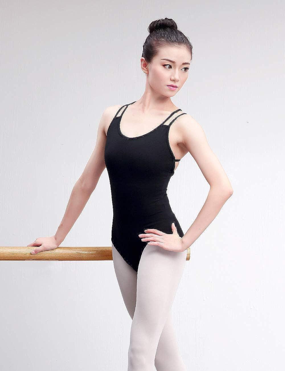 Daydance Camisole Dance Leotards for Women Spaghetti Straps Ballet Costumes
