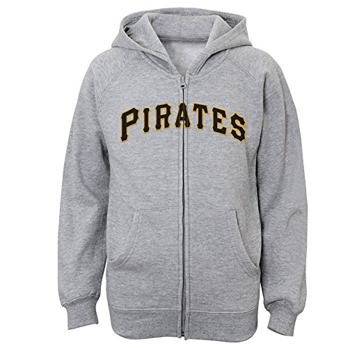 MLB  Pittsburgh Pirates Youth Boys 8-20 Full Zip Fleece-XL (18)